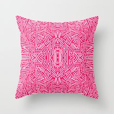 Radiate (Coral) Throw Pillow
