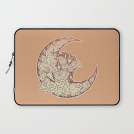 Moth & Moon | Autumn Terra Cotta Palette | Nature Art Laptop Sleeve