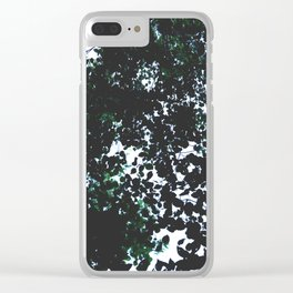 Tops of the leaves of trees silhouettes. Clear iPhone Case