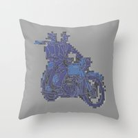 motorbike Throw Pillows featuring Motorbike  by marcusmelton