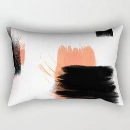 Peachy Abstract Rectangular Pillow