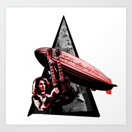 Youtriangle ∆ Ledzeppelin Art Print
