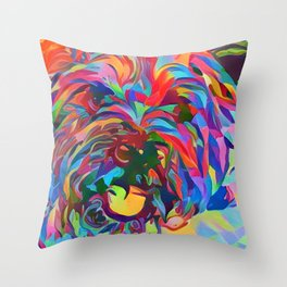 Abstract Doggo Throw Pillow