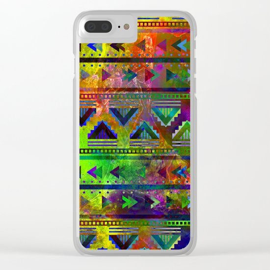 pop triangles Clear iPhone Case