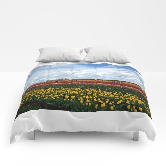 Field of Tulips Comforters