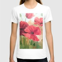 poppies T-shirts featuring Poppies by OLHADARCHUK