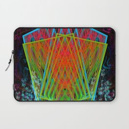 A Psychedelic Hand of Cards Laptop Sleeve