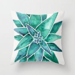 Aloe Vera – Turquoise Palette Throw Pillow