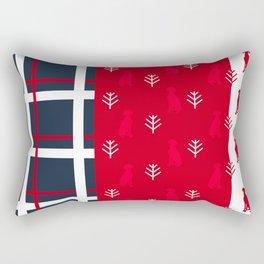 BLUE PLAID RED WEIMS Rectangular Pillow