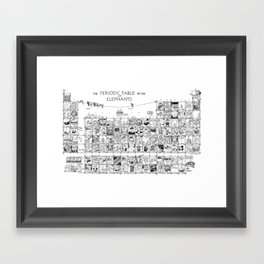 Periodic Table of the Elephants Framed Art Print