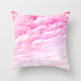 Pink cotton Candy Sky Throw Pillow