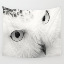 owl chouette bird white Wall Tapestry