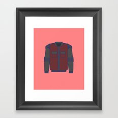 SELF-ADJUSTING AND AUTO-DRYING JACKET - Back to the future series Framed Art Print