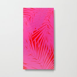 Palms Pink & Red Metal Print