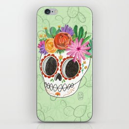 Fridita with flowers iPhone Skin