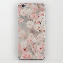 Gypsophila pink blush iPhone Skin