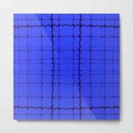 jagged, blue Metal Print