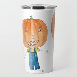 Here comes Mr. Pumpkinhead Travel Mug