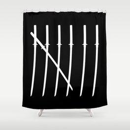 The Samurai Checklist Shower Curtain