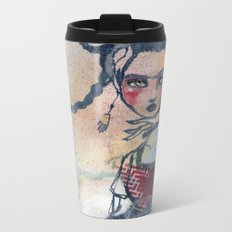 Frida is an Emotion by Jane Davenport Metal Travel Mug