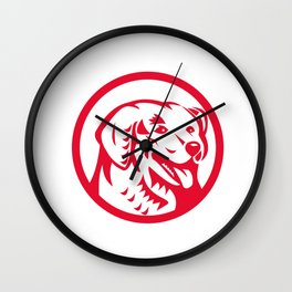 Kuvasz Dog Head Circle Retro Wall Clock