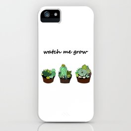 little green cactuses ( https://society6.com/totalflora/collection ) iPhone Case