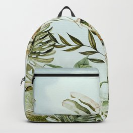 Landscape of banana trees in the jungle Backpack