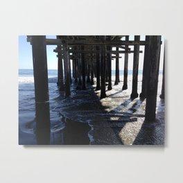 Peaceful Pier Metal Print