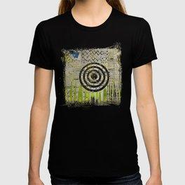 Bullseye Abstract Art Collage T-shirt