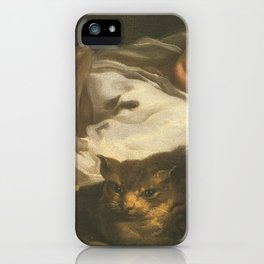 Cat in the art -Bernhardt keil – The cat and the girl iPhone Case