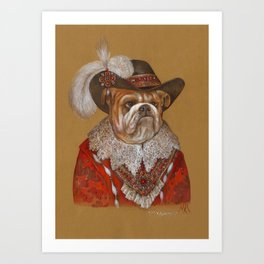 Lord Bulldog Art Print