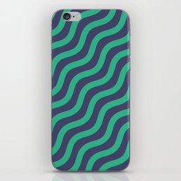 Green Dizzy Chevron Curve Art iPhone Skin