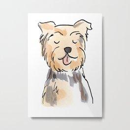 Yorkie Pup Metal Print
