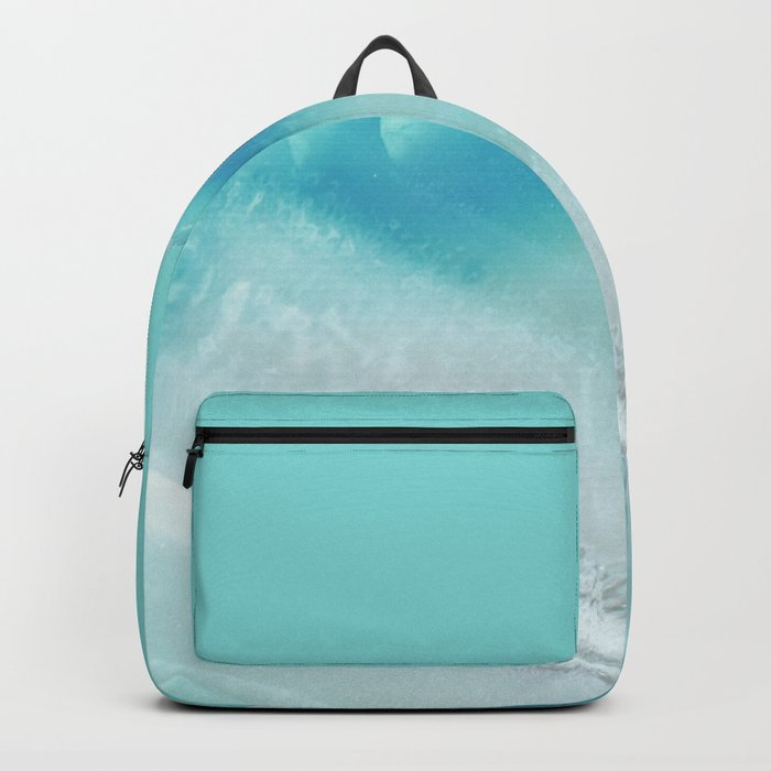 Geode Crystal Turquoise Blue Backpack