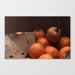 Pumpkins In a Box! Canvas Print