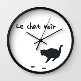 Le chat noit - The black cat Wall Clock