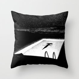 asc 593 - Le silence des cigales (The midnight lights) Throw Pillow