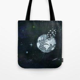 Blowing in Space Tote Bag