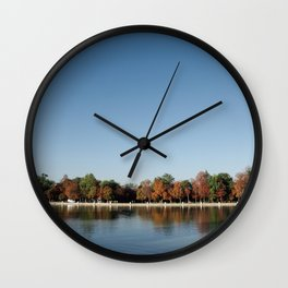 Autumn in Retiro Wall Clock