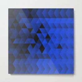 Triangle Waves Metal Print