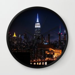 Lights of New York City (Color) Wall Clock