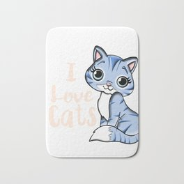 I love cats Bath Mat