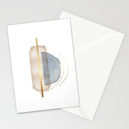Watercolor abstract shapes geometric Stationery Cards