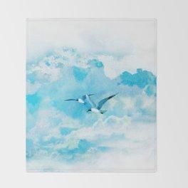 Flying birds Throw Blanket