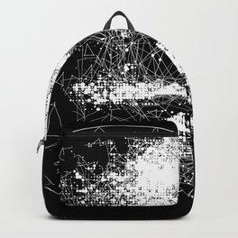Geometric polygon Human Skull Backpack