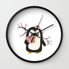 Japanese Penguin   Wall Clock