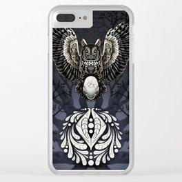 Owl Deck: Ace of Diamonds Clear iPhone Case