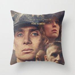 Peaky Blinders, Cillian Murphy, Thomas Shelby, BBC Tv series, Tom Hardy, Annabelle Wallis Throw Pillow