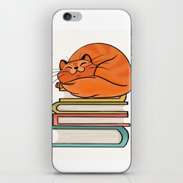 With Books And Cats Life Is Sweet iPhone Skin