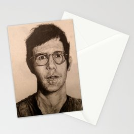 Man in Glasses Stationery Cards